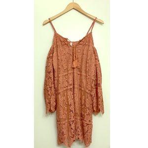 BOGO ✨ Lace Long Sleeve Cold Shoulder Dress